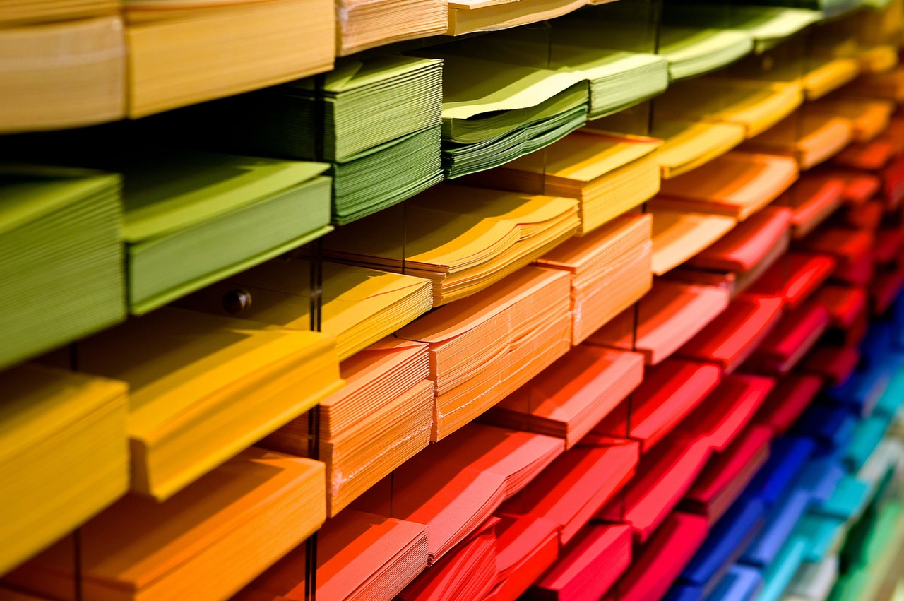 Folders of all Colors Organized